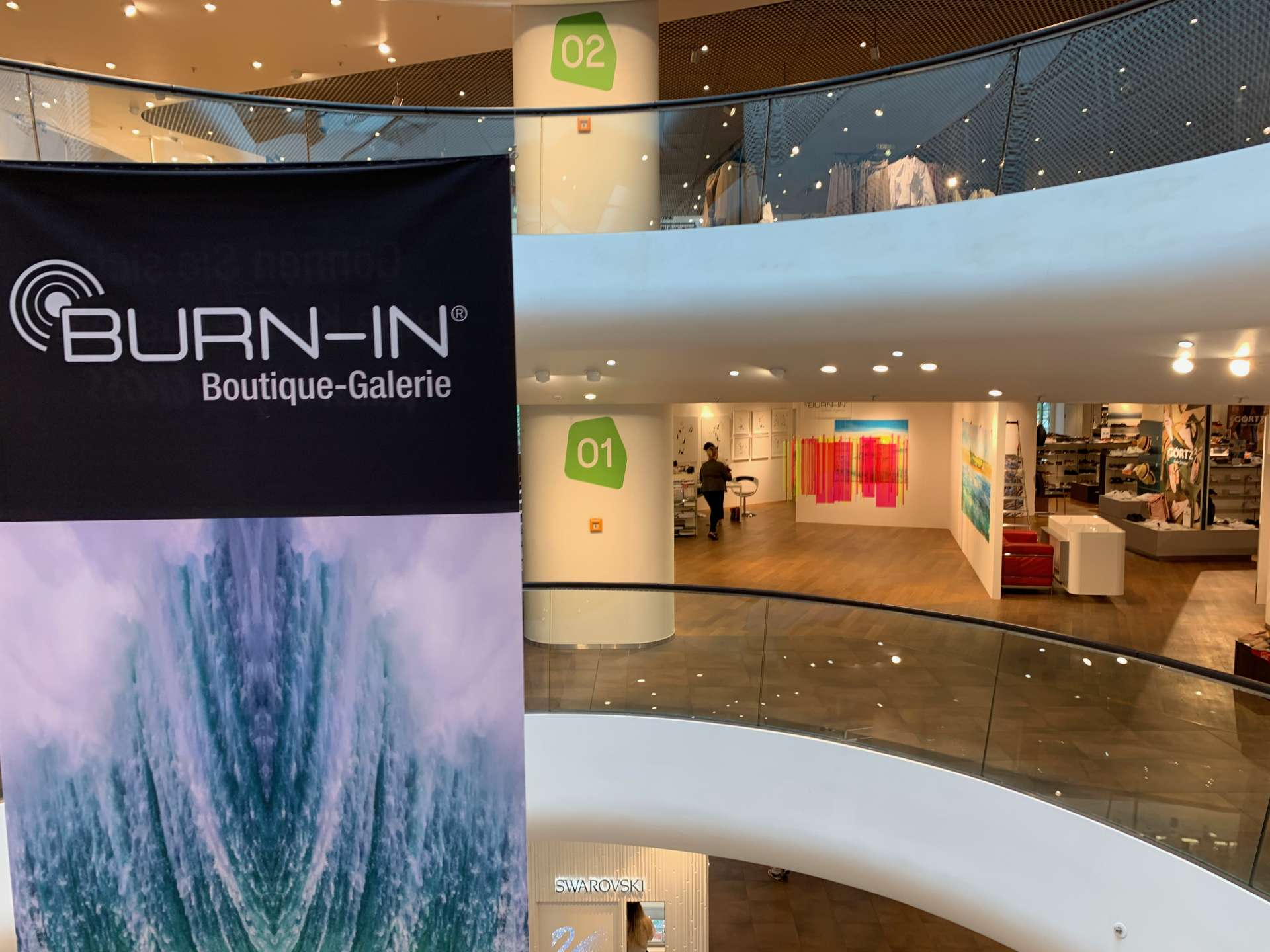 Burn In Galerie in Gerngross Wien